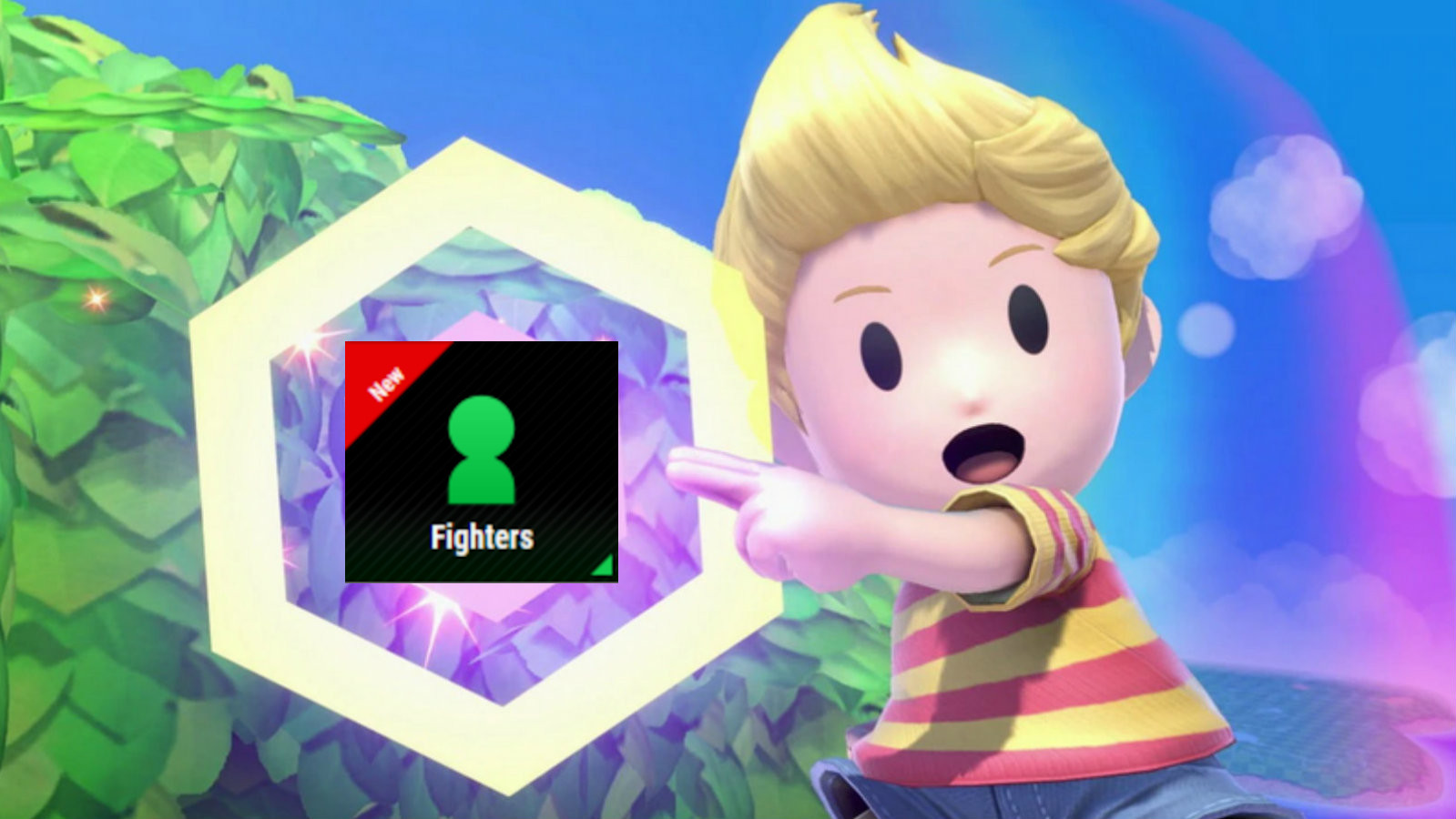 Lucas points at new Smash Ultimate DLC