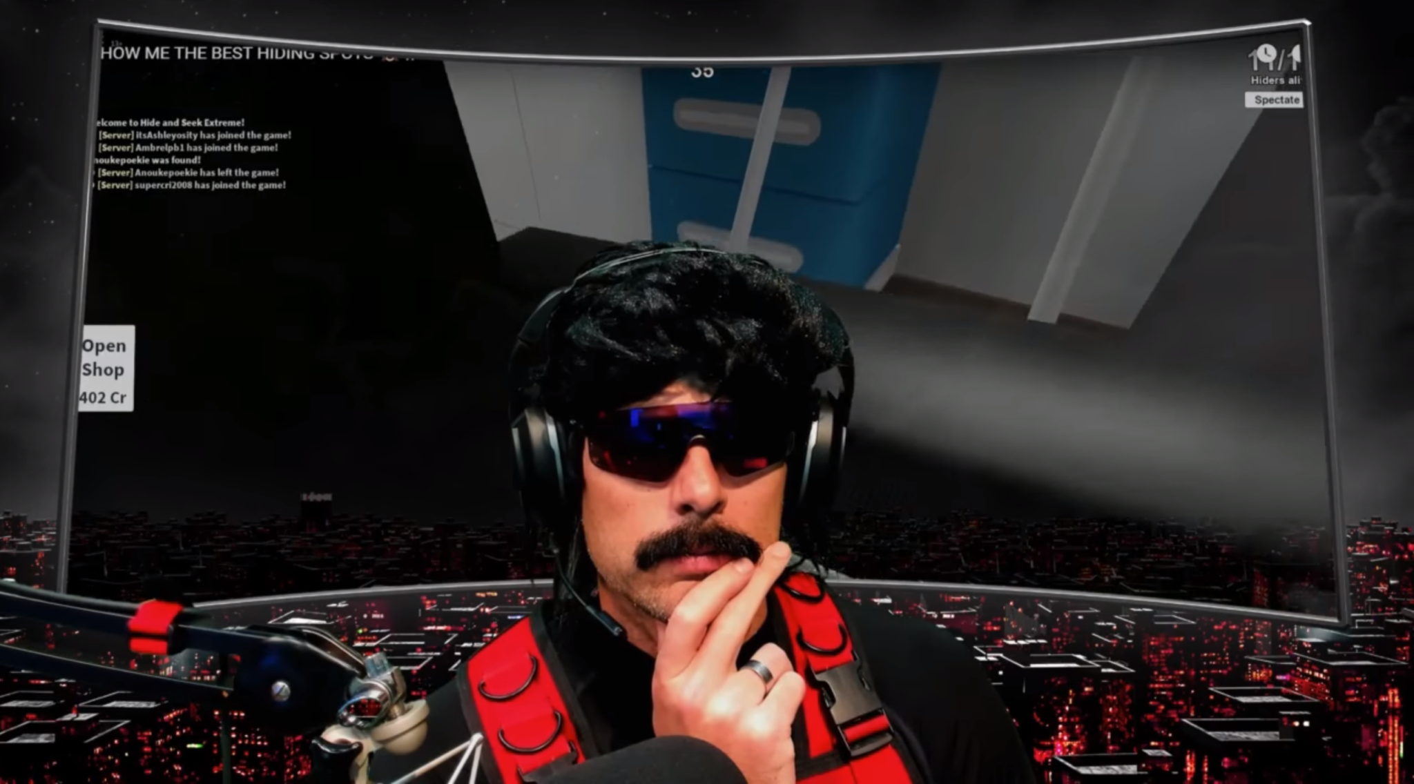 Dr Disrespect during his final Twitch stream on June 25.