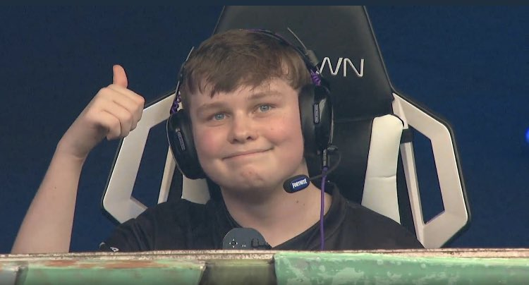 BenjyFishy smiles for the camera at the Fortnite World Cup