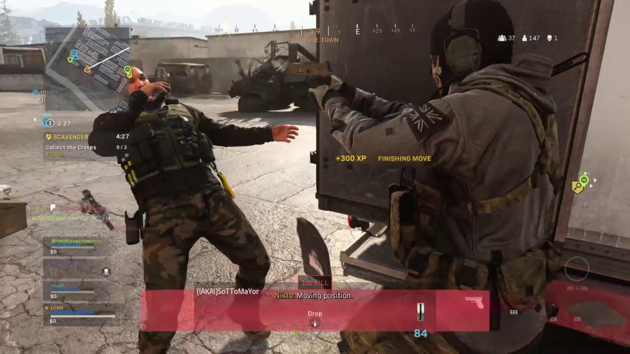 Player doing a finishing move in Modern Warfare