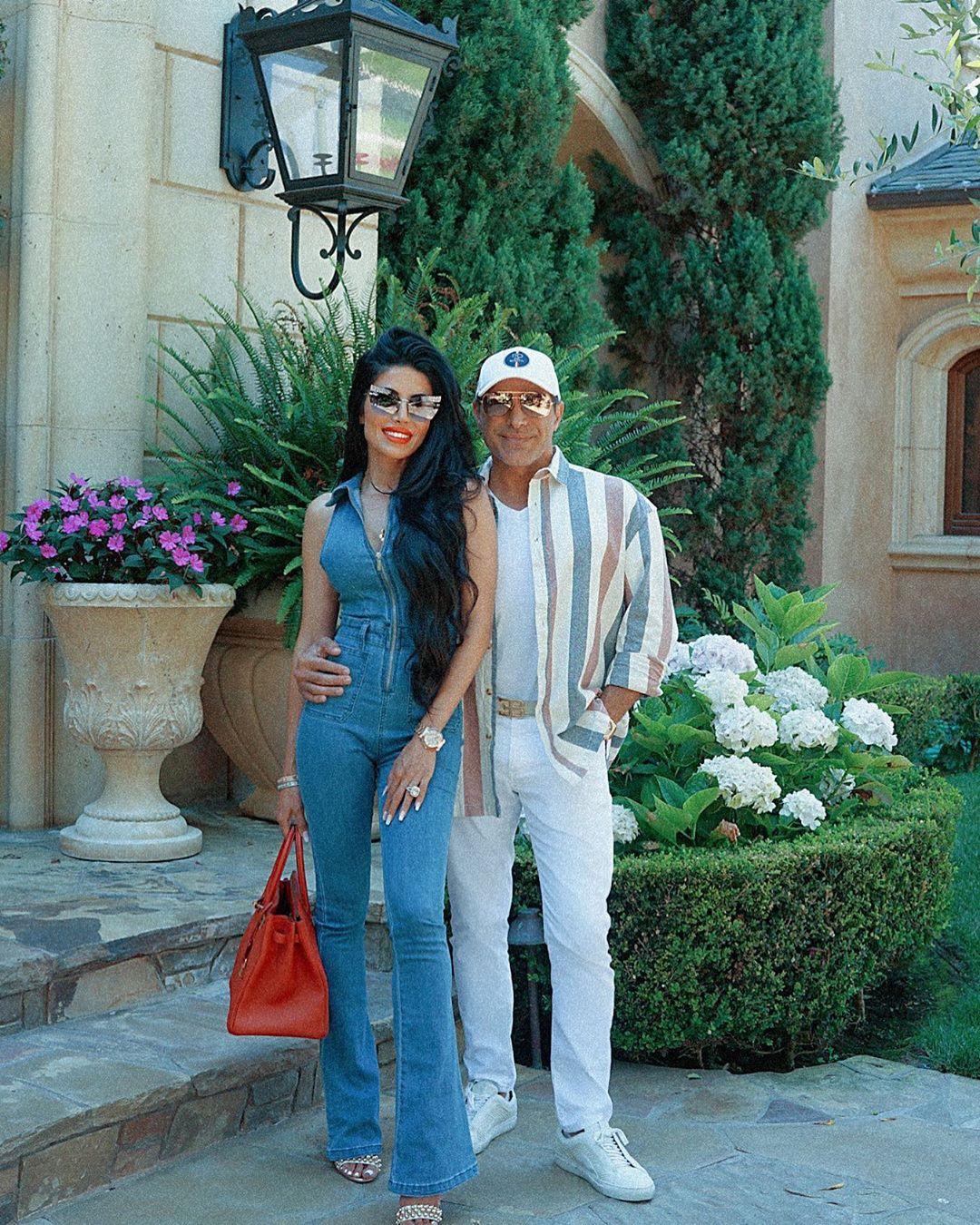 Manny Khoshbin and partner on Instagram