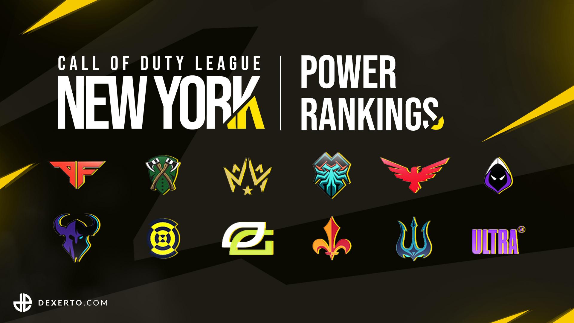 CDL New York Dexerto Power Rankings