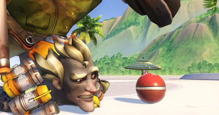 Junkrat stares at his grenade