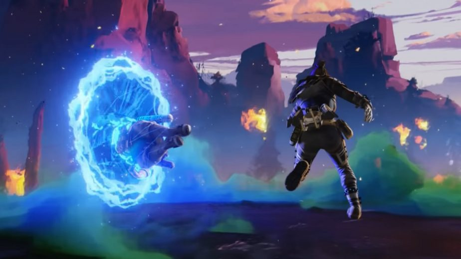 Wraith portal in Apex Legends that has a bug.