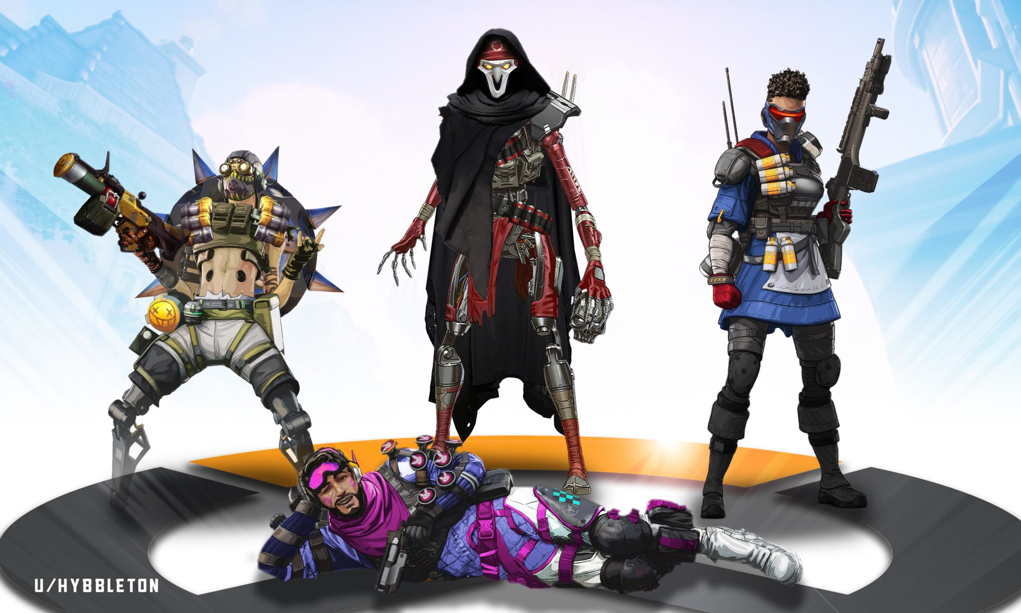 Apex Legends characters designed as Overwatch skins