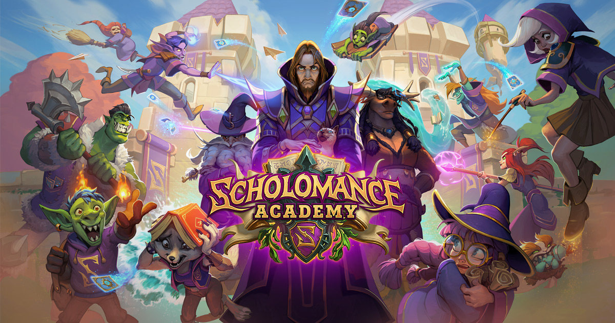 Scholomance Academy feature image for Hearthstone expansion.