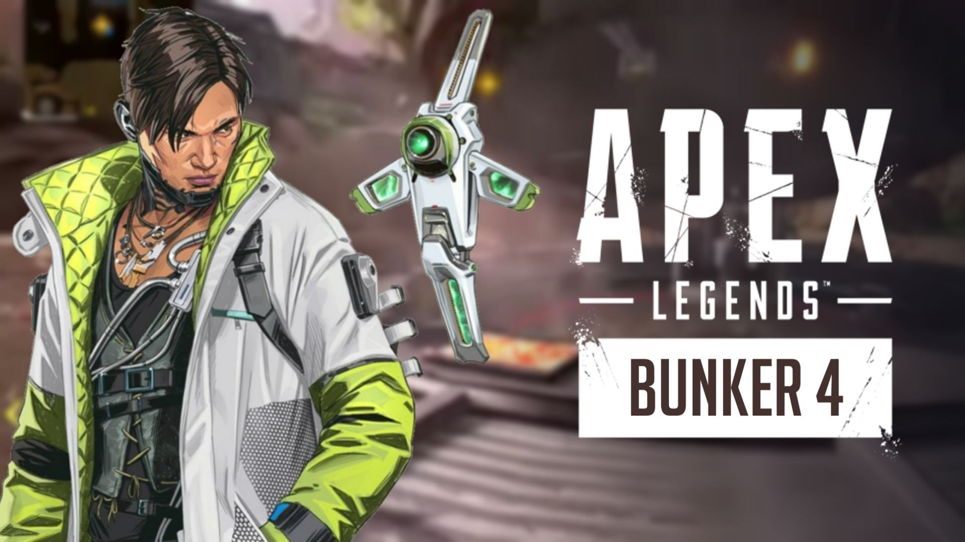 Crypto in front of Apex Legends bunker