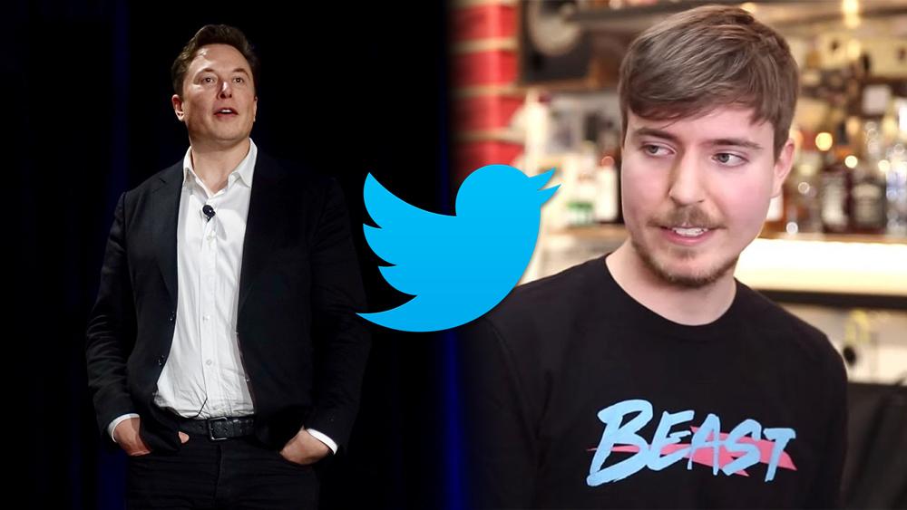 Elon Musk Mr Beast Twitter hacked