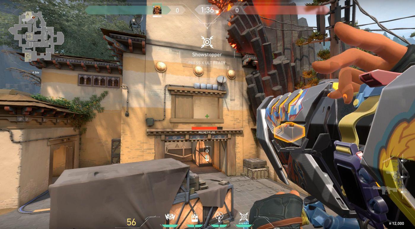 Raze using Showstopper rocket ultimate