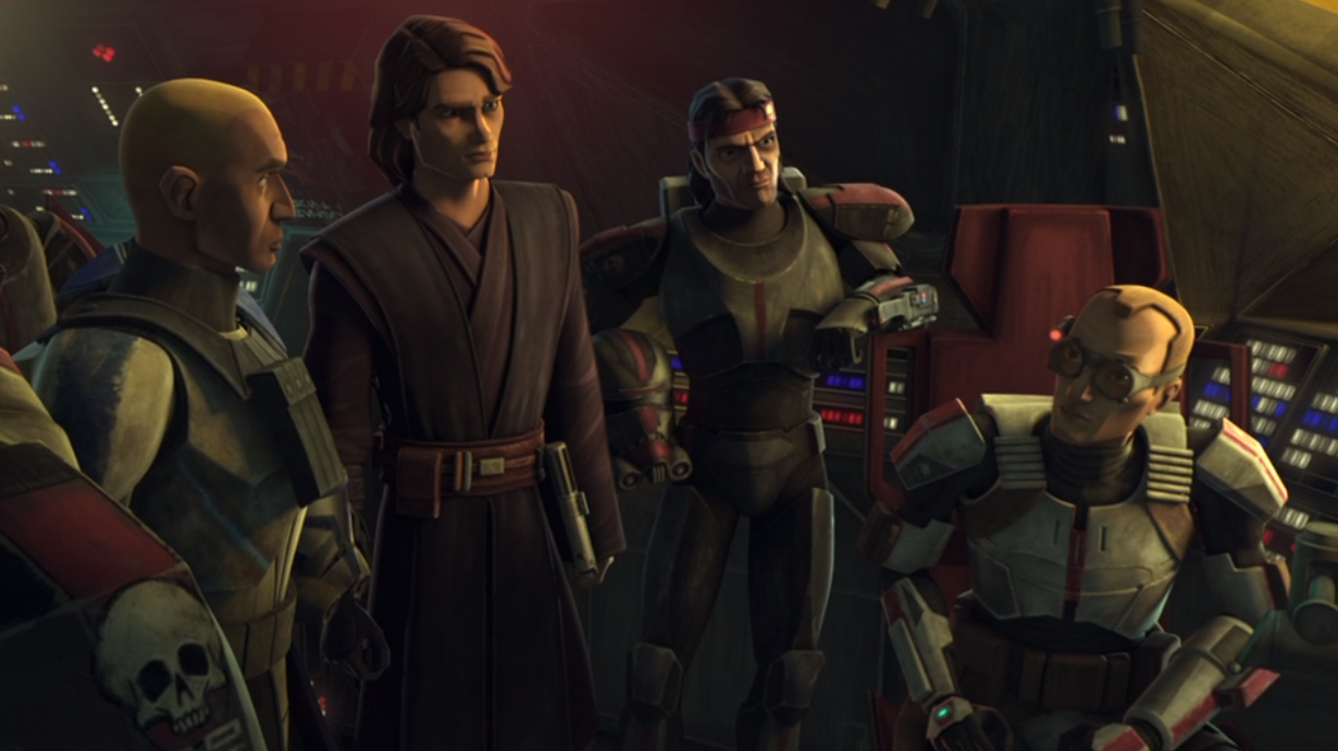 Anakin Skywalker talks to The Bad Batch in the Clone Wars