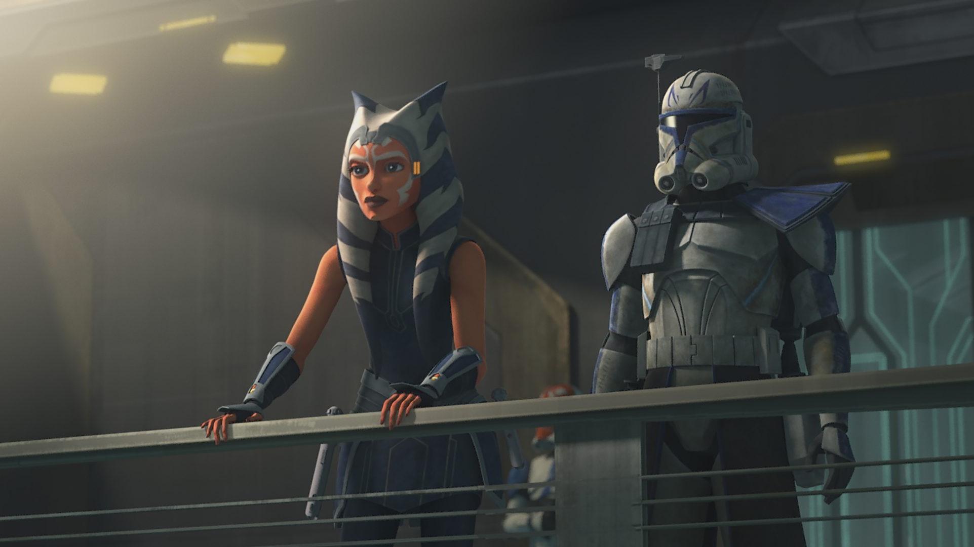 Ahsoka Tano and Rex in The Clone Wars.