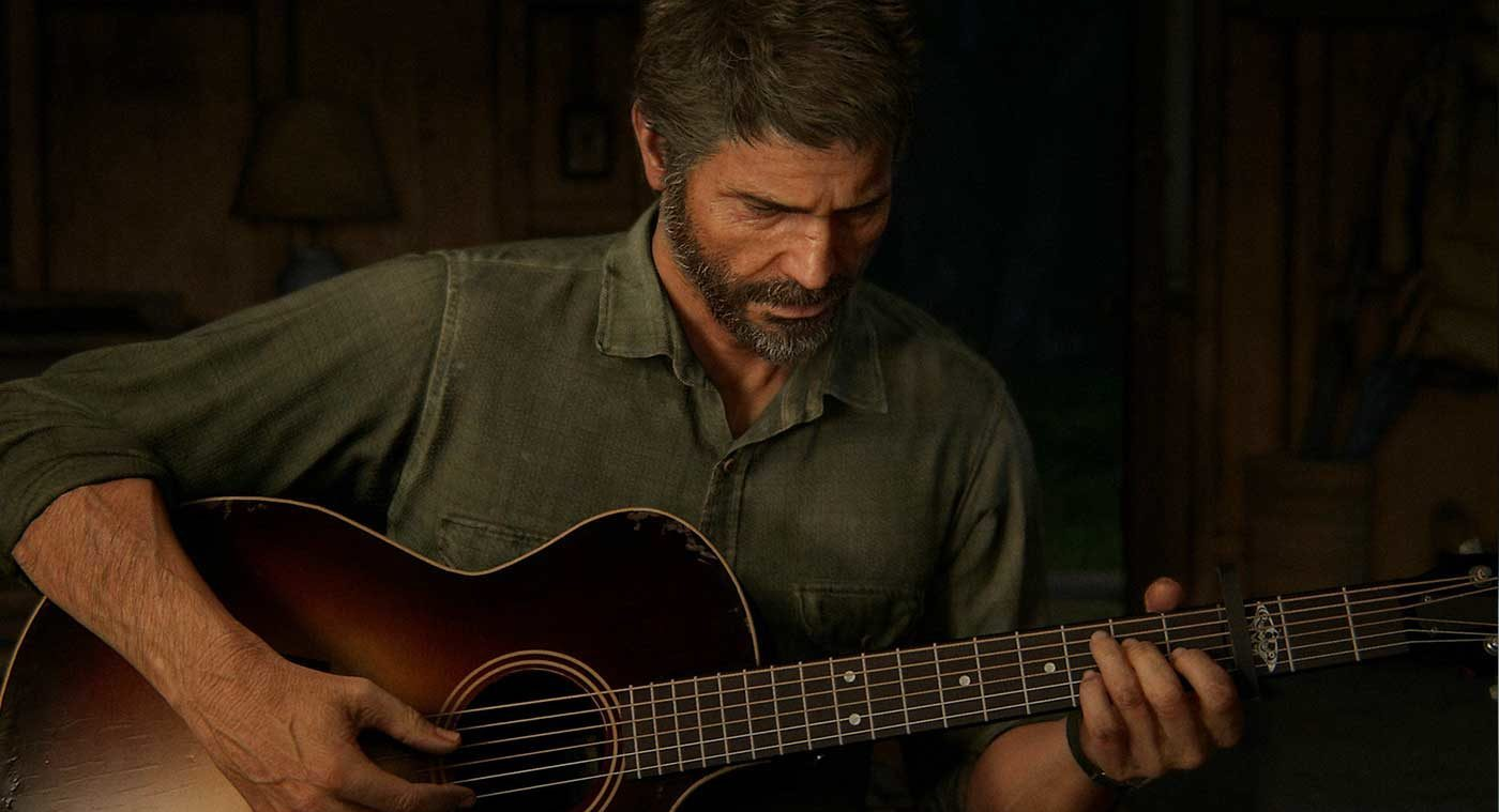 Last of Us Part 2 Joel playing guitar