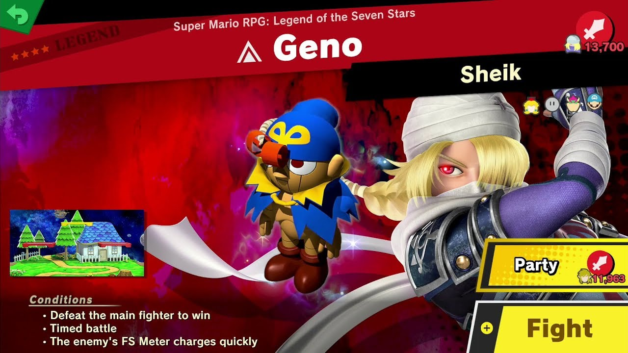 Geno's Spirit battle in Smash Ultimate