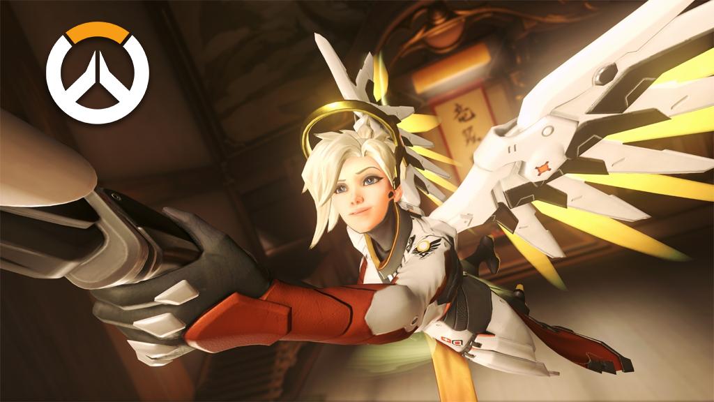 Mercy using Guardian Angel on Hanamura B point