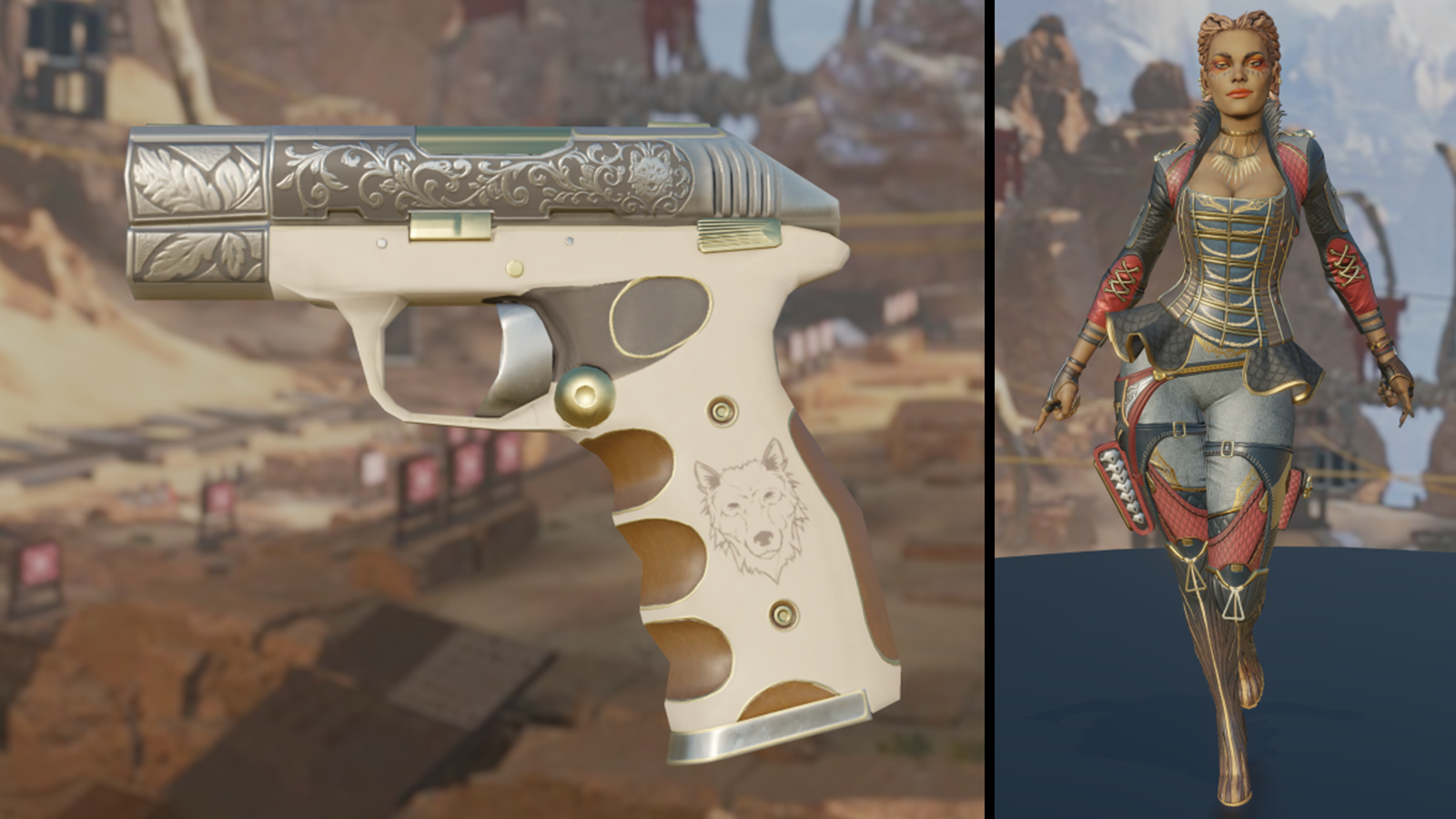 The new Summer of Plunder pistol and character skins for Loba.