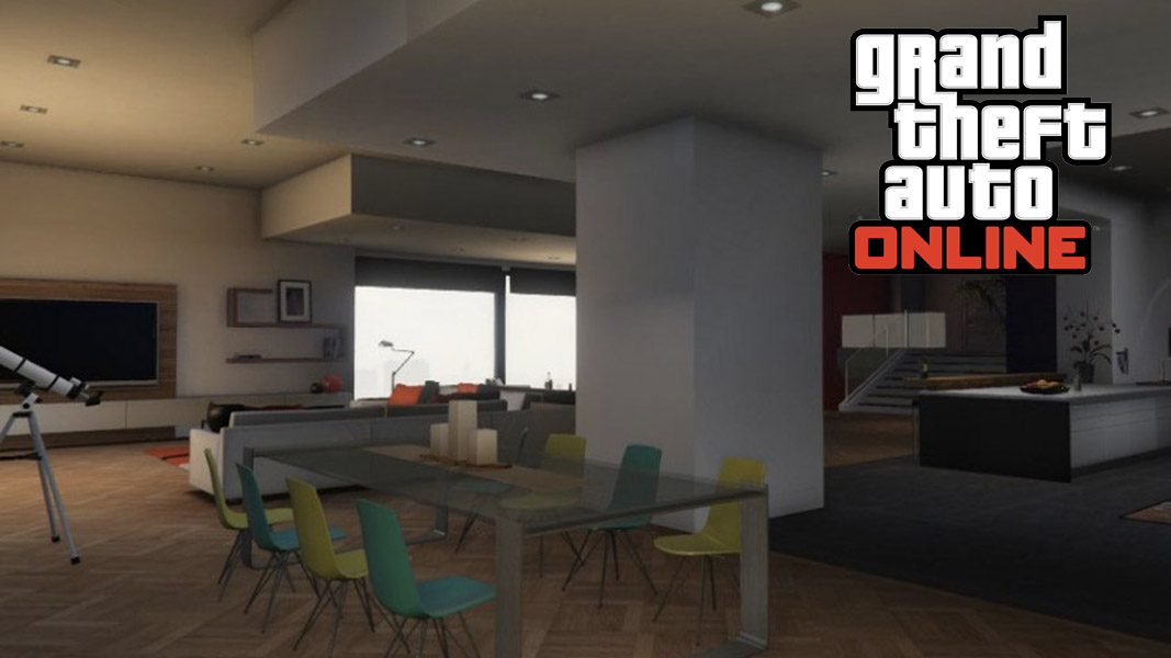 The inside of a GTA Online apartment