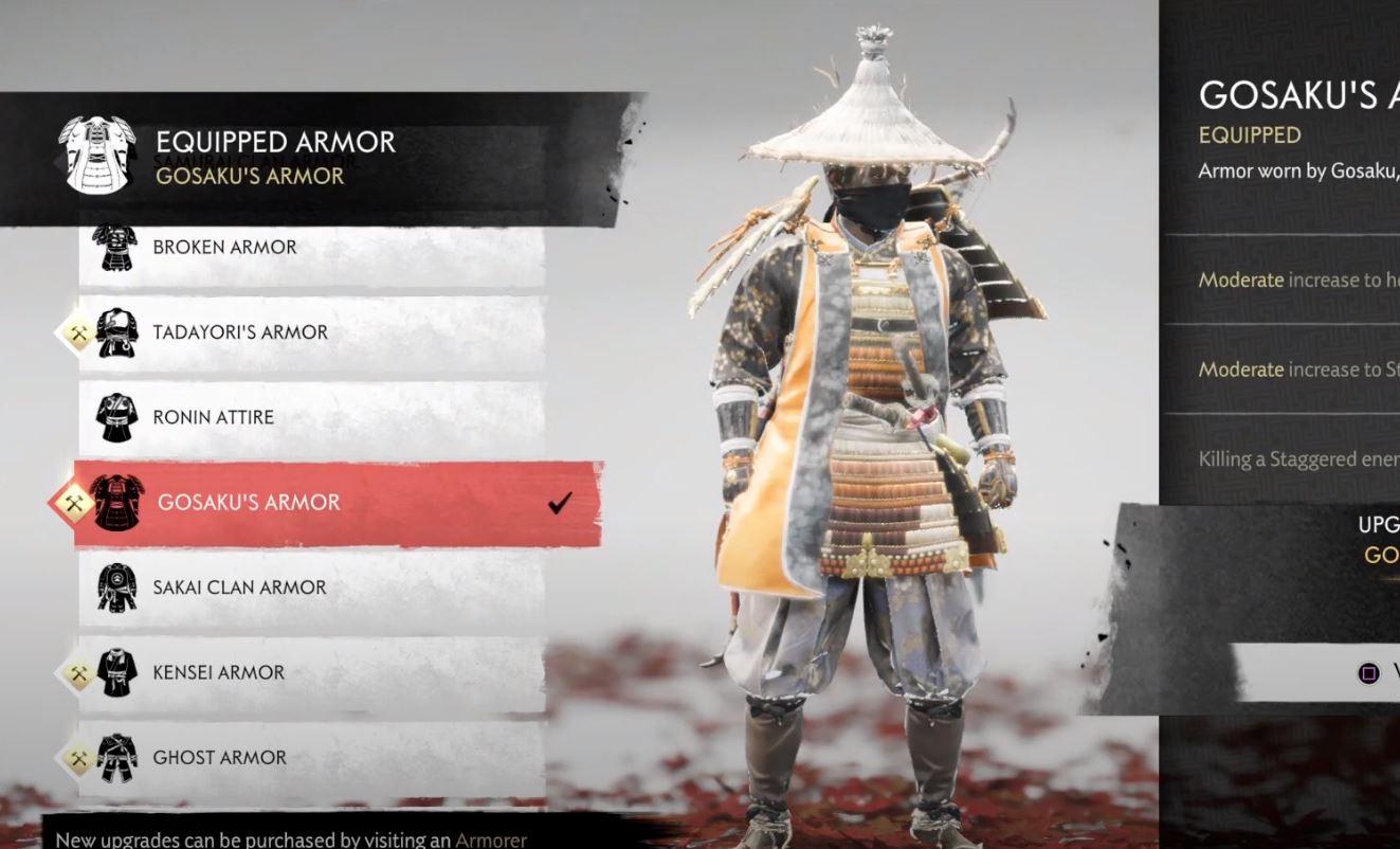 gosaku's armor ghost of tsushima
