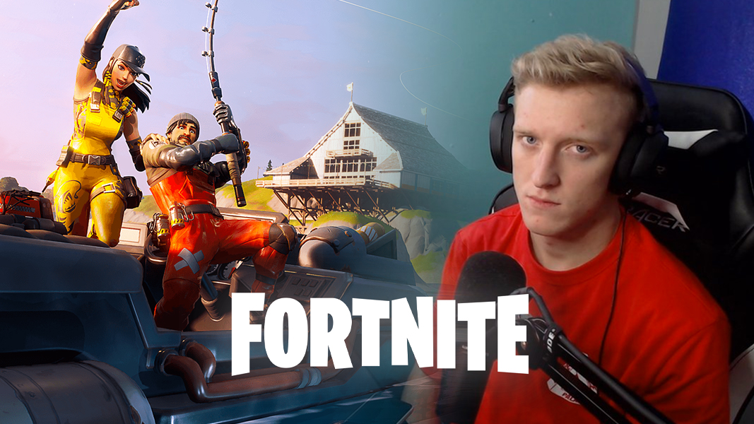Tfue next to Fortnite Chapter 2