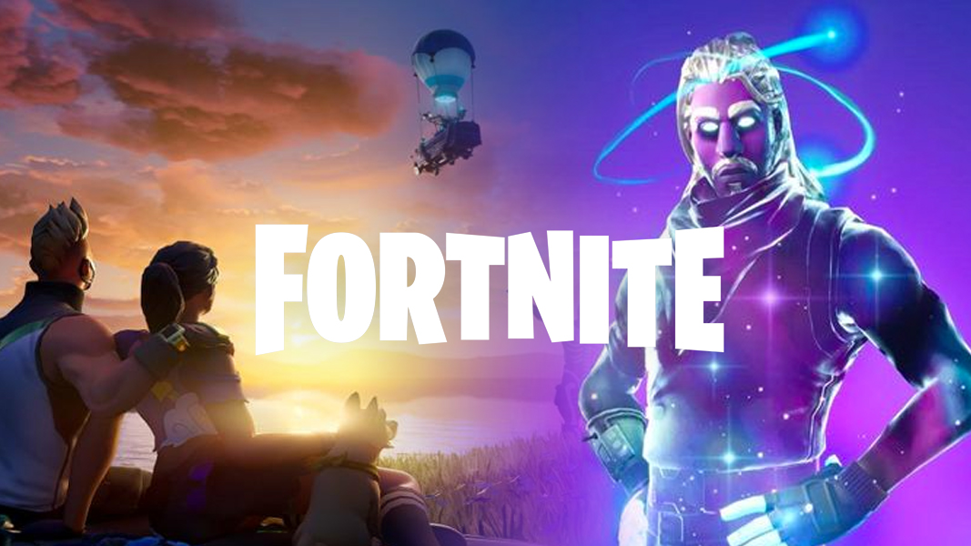 Fortnite Chapter 2 next to the Galaxy Skin