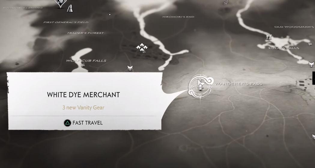 white dye merchant map ghost of tsushima