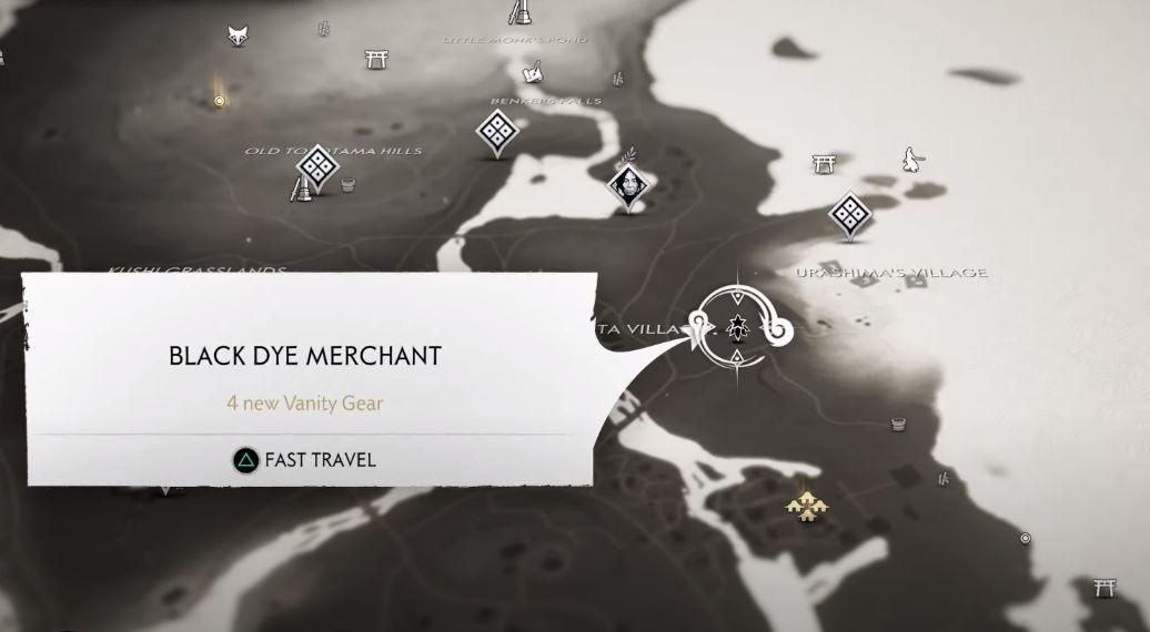 black dye merchant map ghost of tsushima