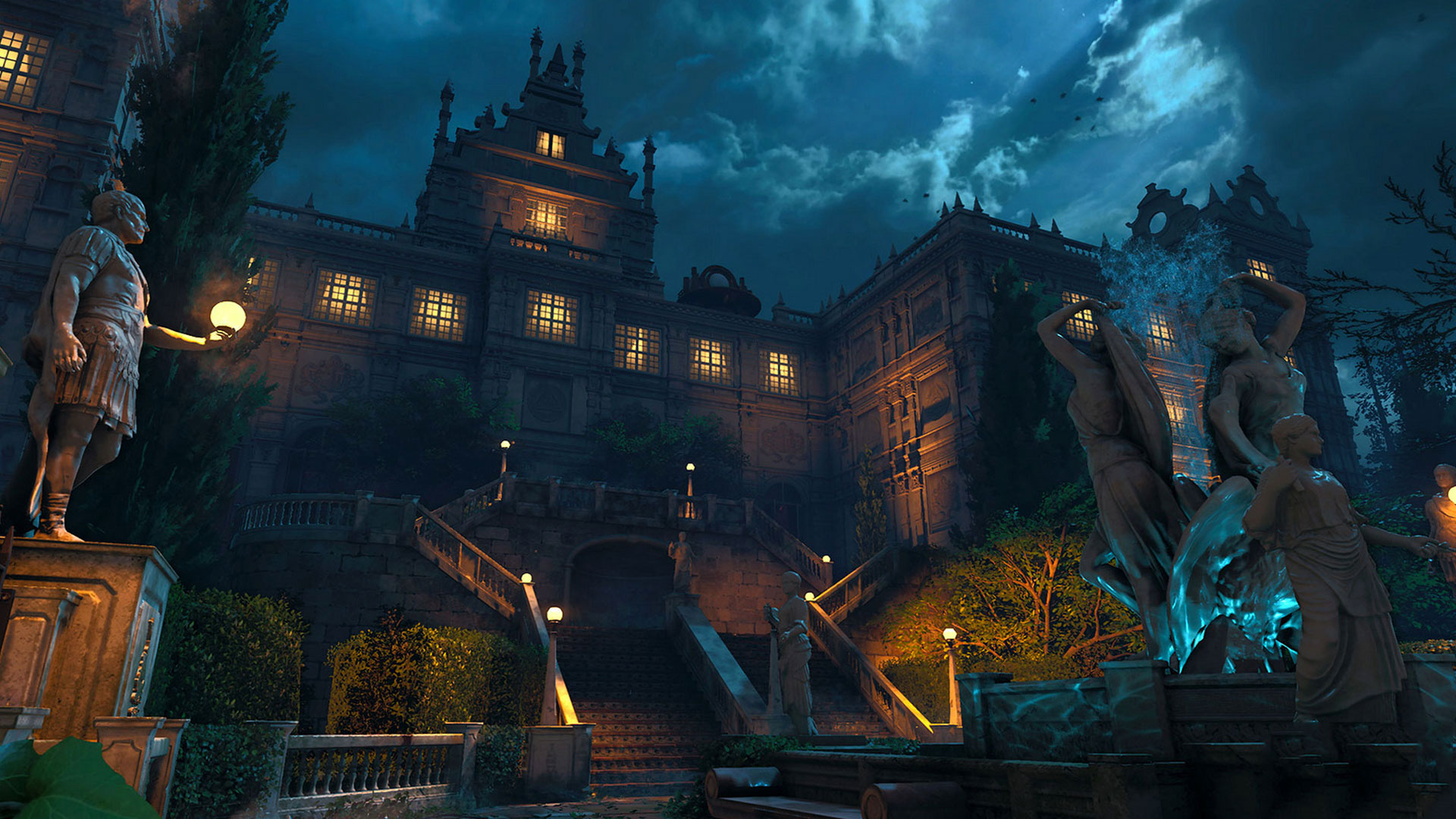 Call of Duty zombies scary map.