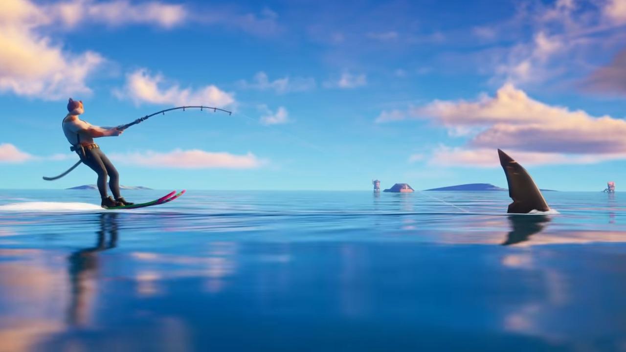 Fortnite Season 3 riding sharks