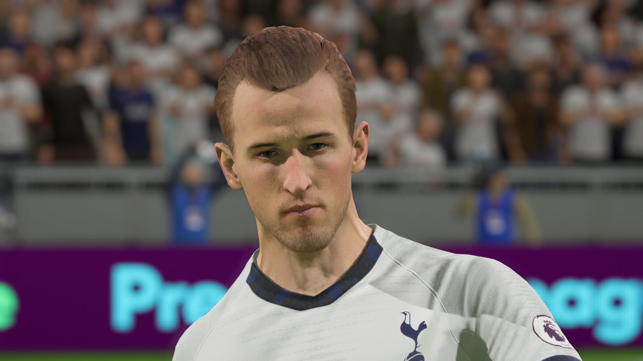 Tottenham striker Harry Kane in FIFA 20.