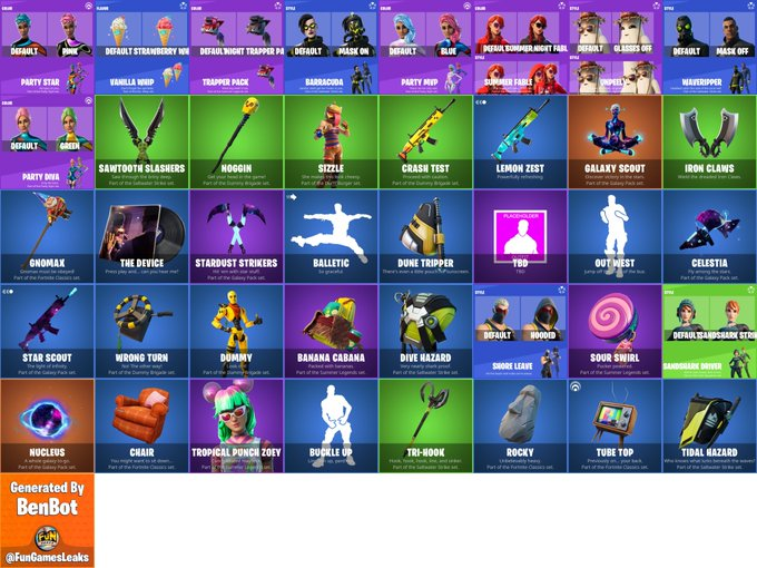 Leaked leaked cosmetics from fortnite v13.30 patch