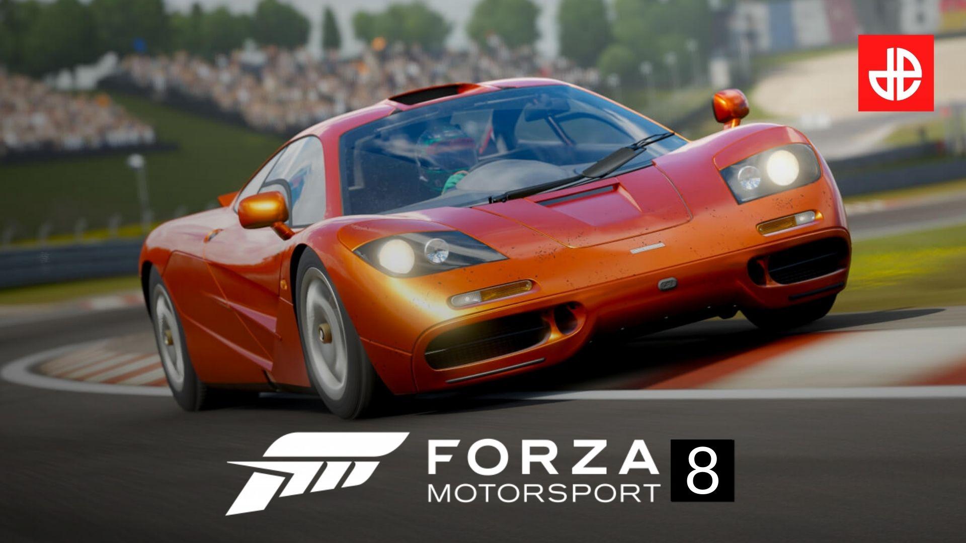 Forza Motorsport 8 car on racetrack