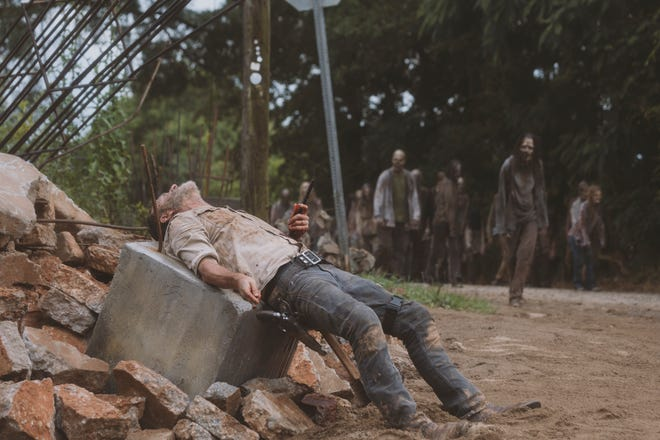 Rick Grimes bridge scene in Walking Dead season 9