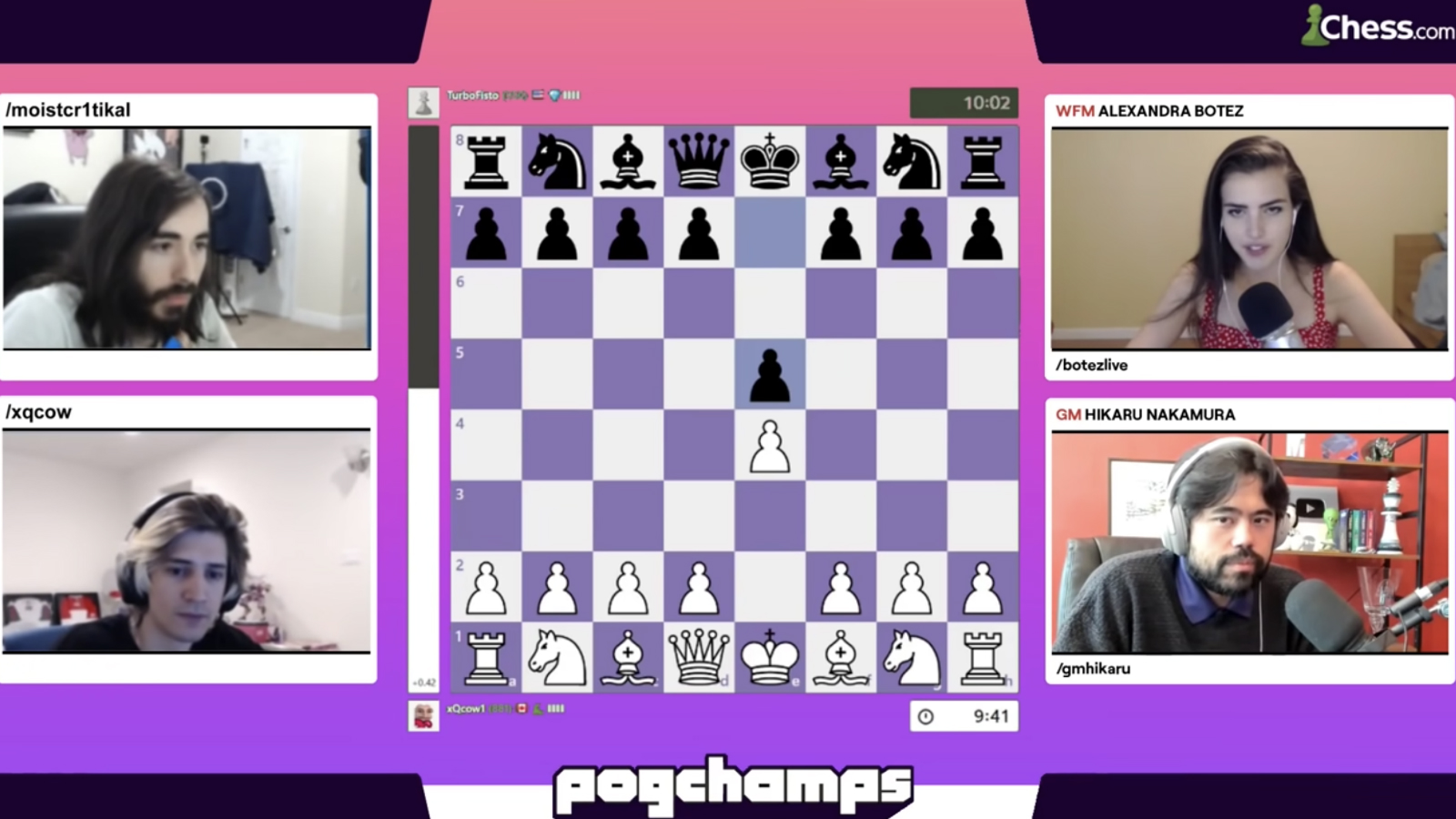 xQc being checkmated on chess