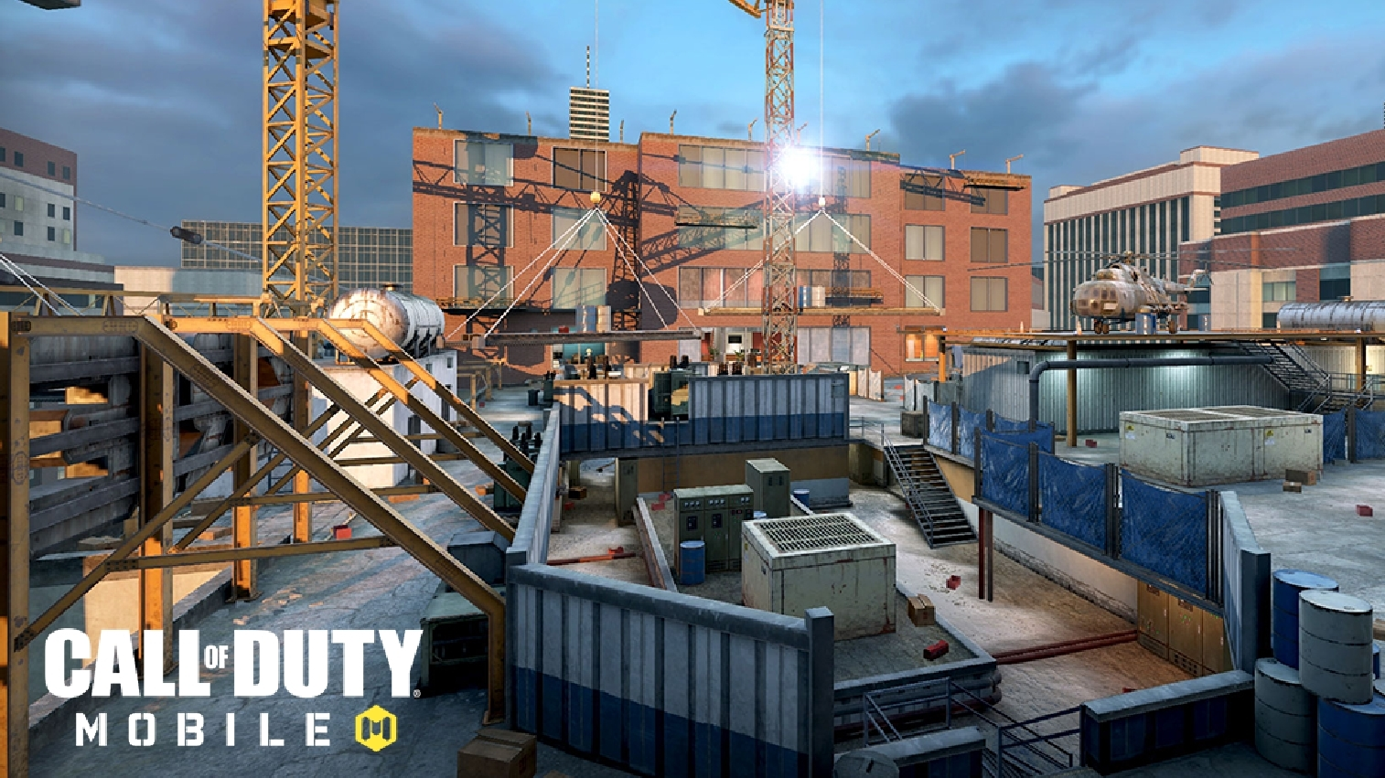 Highrise map with cod mobile logo