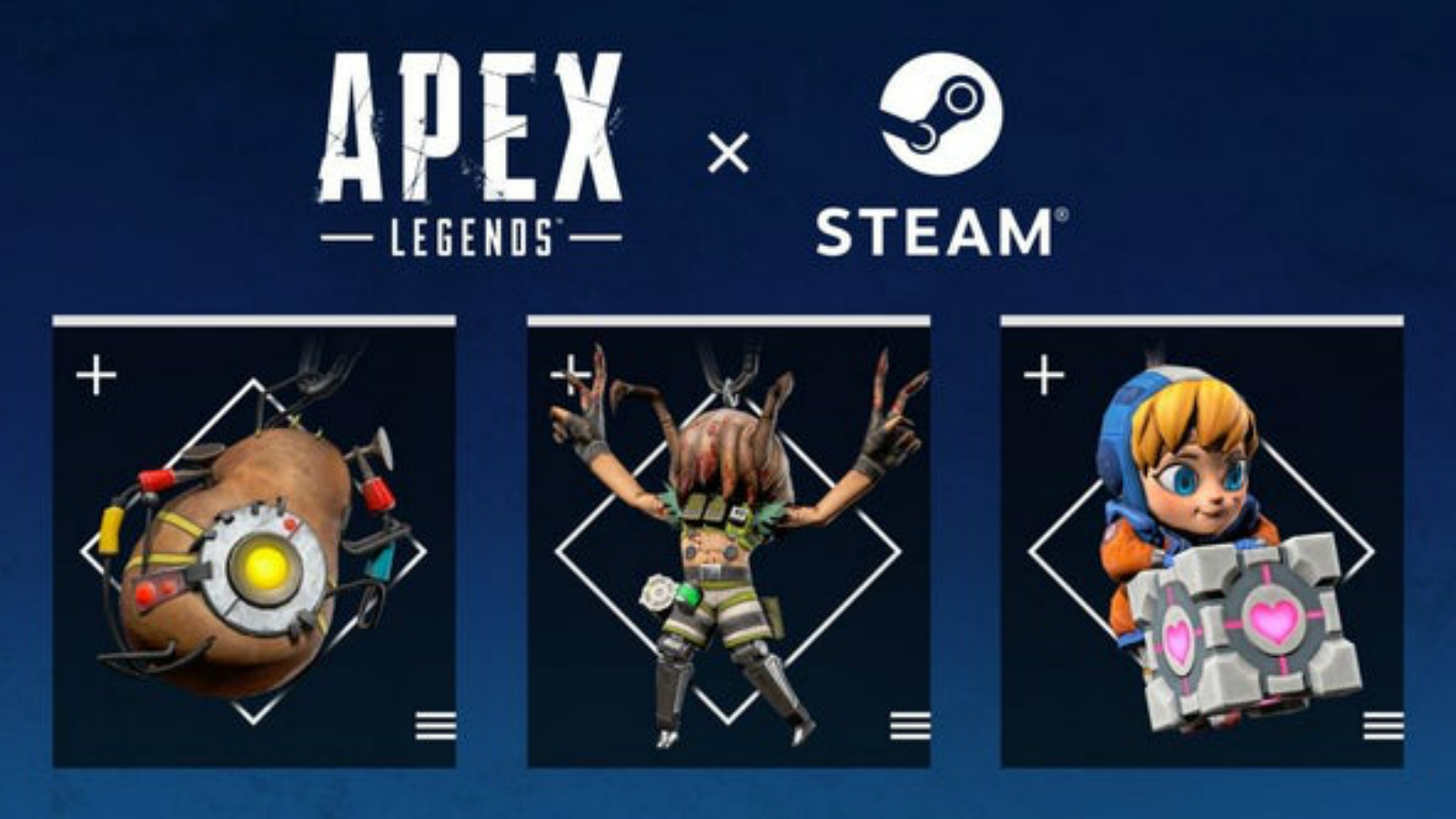 Three steam weapon charms for Apex Legends