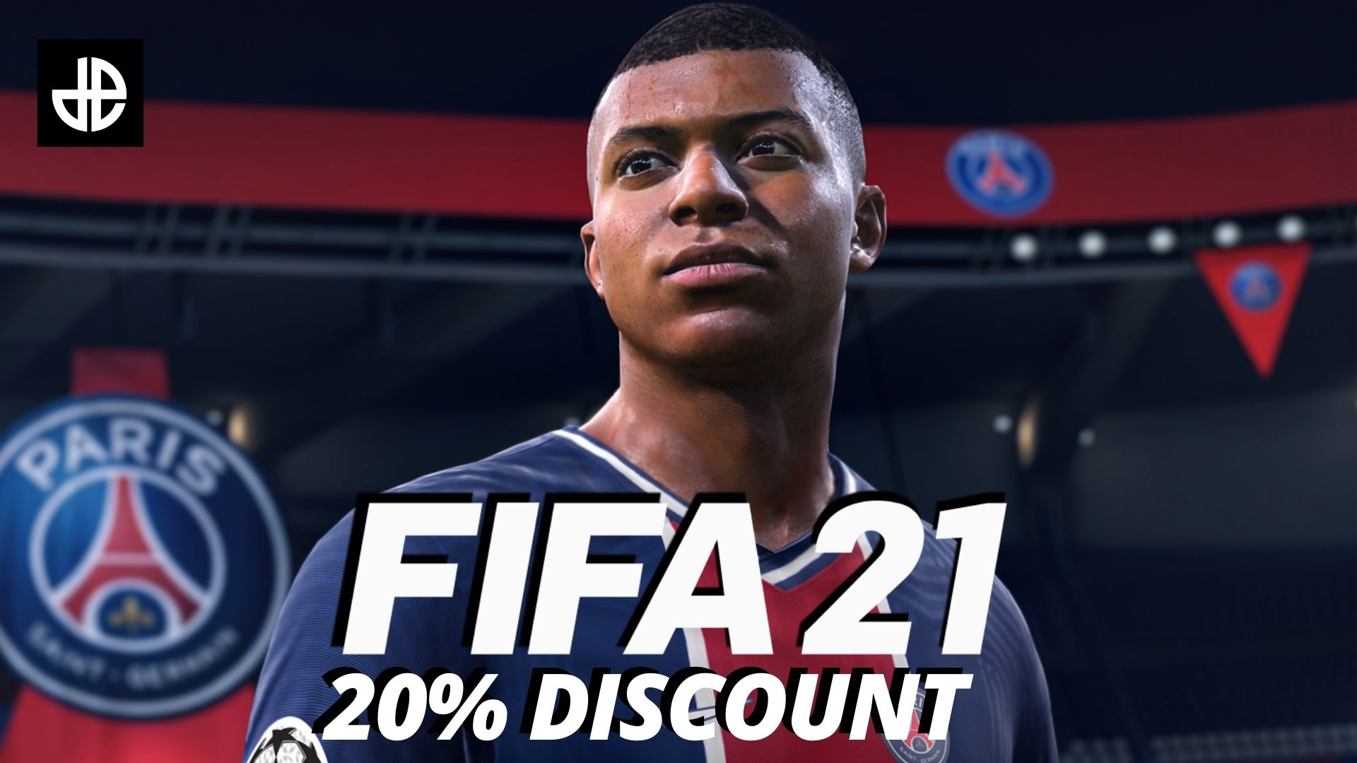FIFA 21 discount image with Mbappe