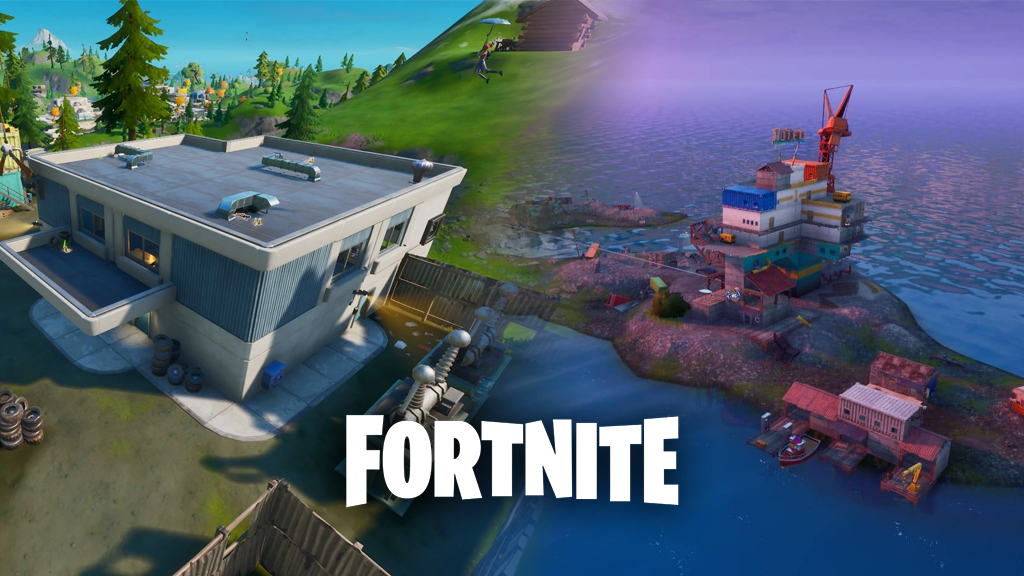 Catty Corner and Rickety Rig in Fortnite