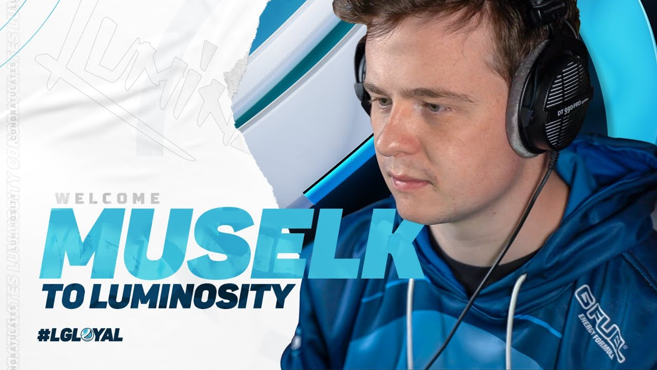 Muselk in Luminosity Gaming jersey
