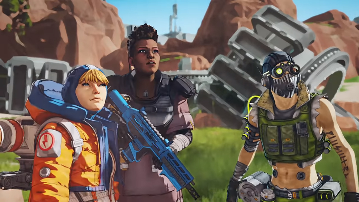 Wattson, Bangalore and Octane from Apex Legends
