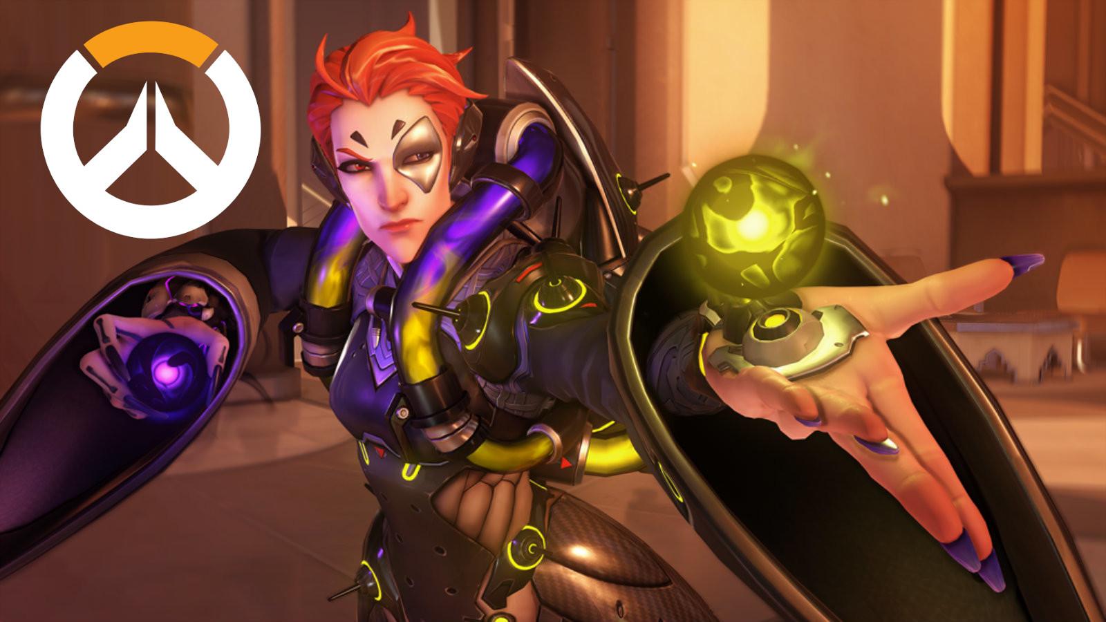 Moira readies her Biotic Orbs in Overwatch's Oasis