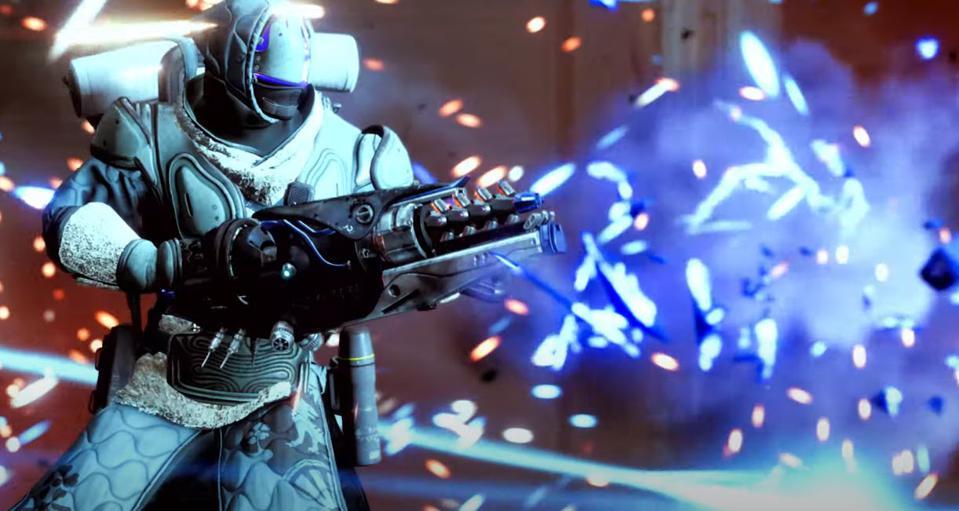 Destiny 2 Guardian wields new Stasis Exotic.