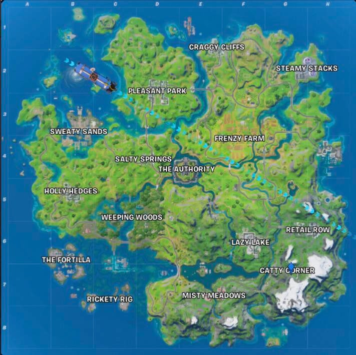 Fortnite map from july 24 changes