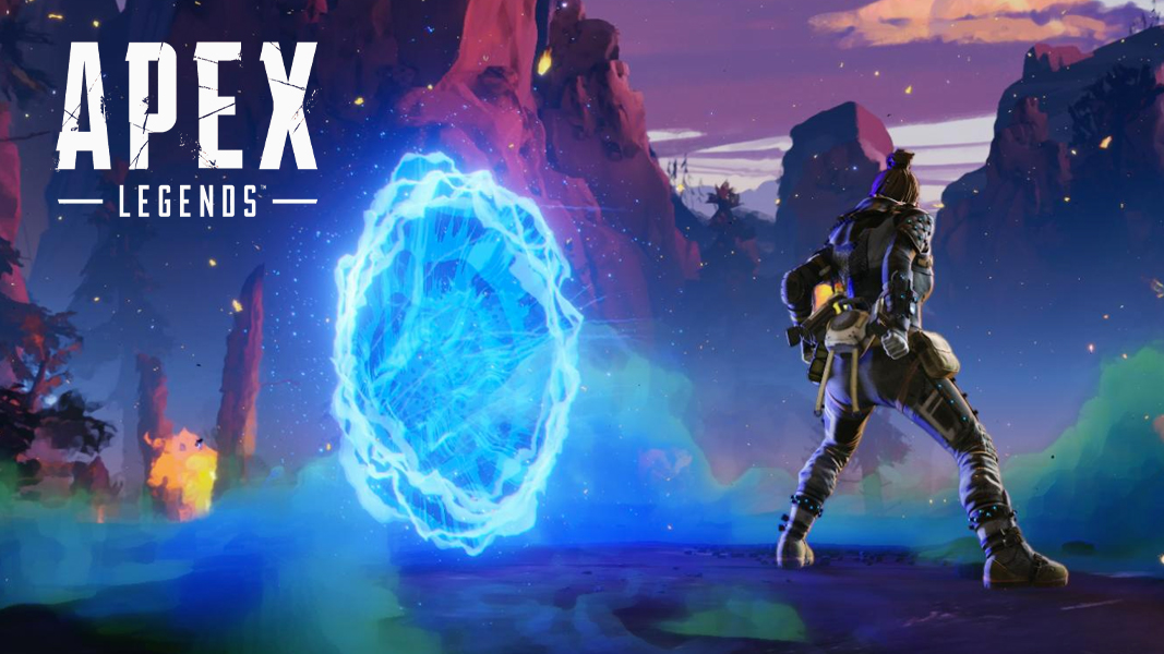 Wraith stood by a portal in Apex Legends