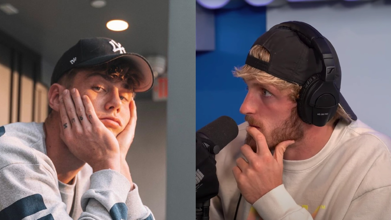 Harry Jowsey and Logan Paul