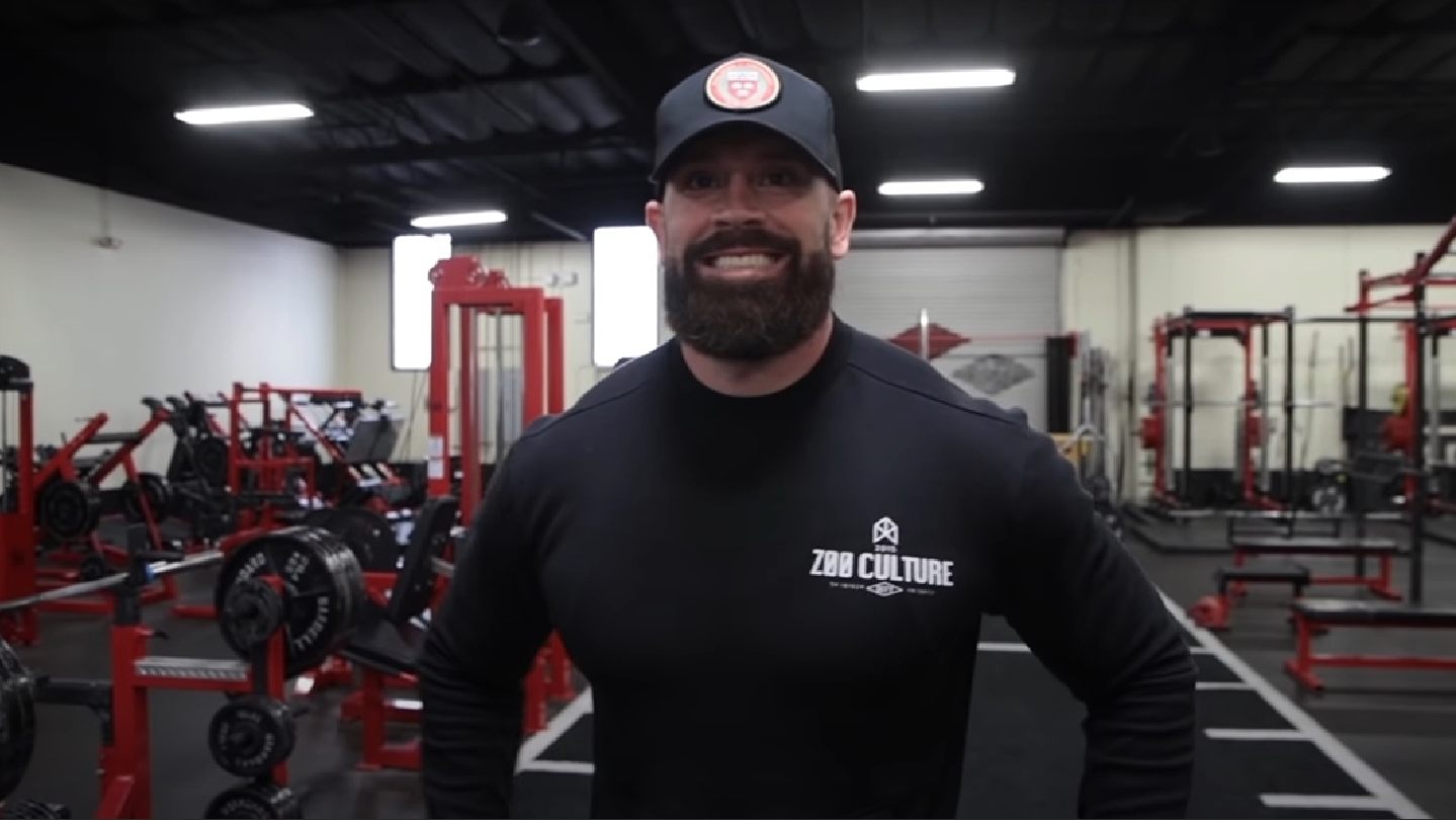 bradley martyn in his gym