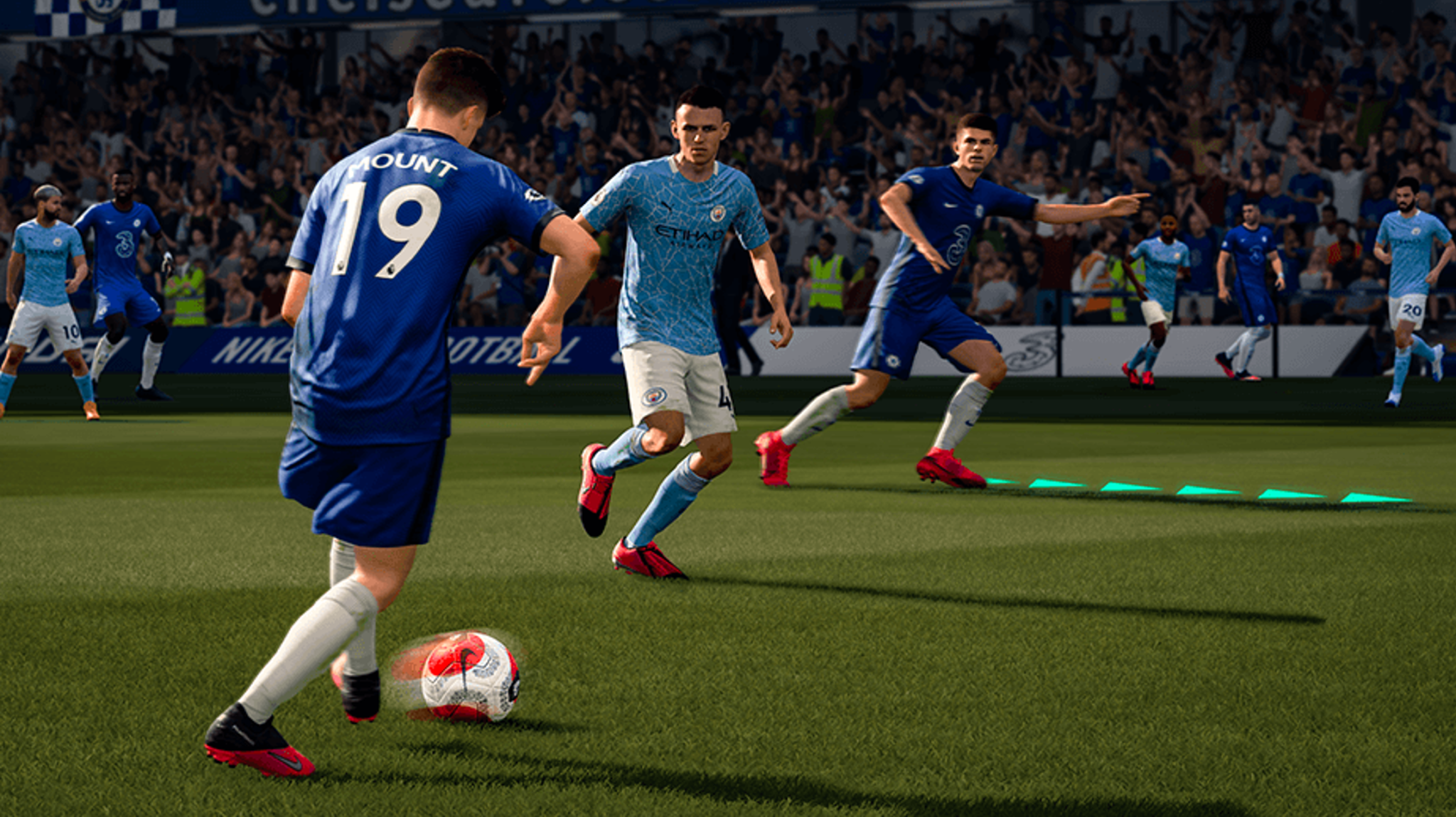 Chelsea and Manchester City in FIFA 21