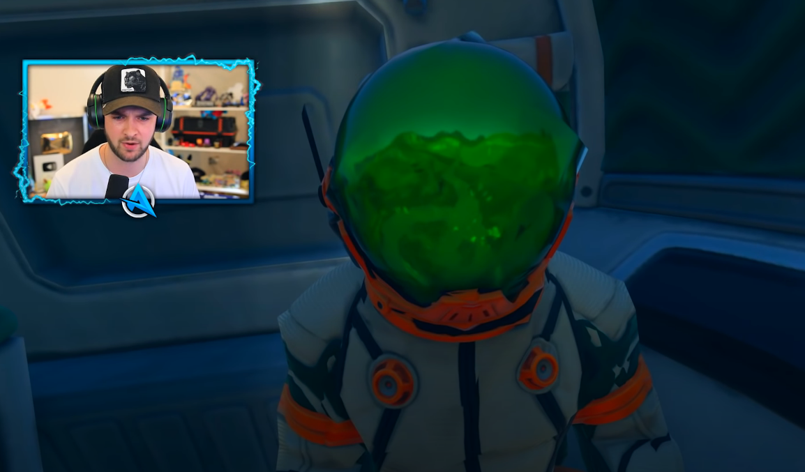 Ali-A finding an astronaut character in fortnite