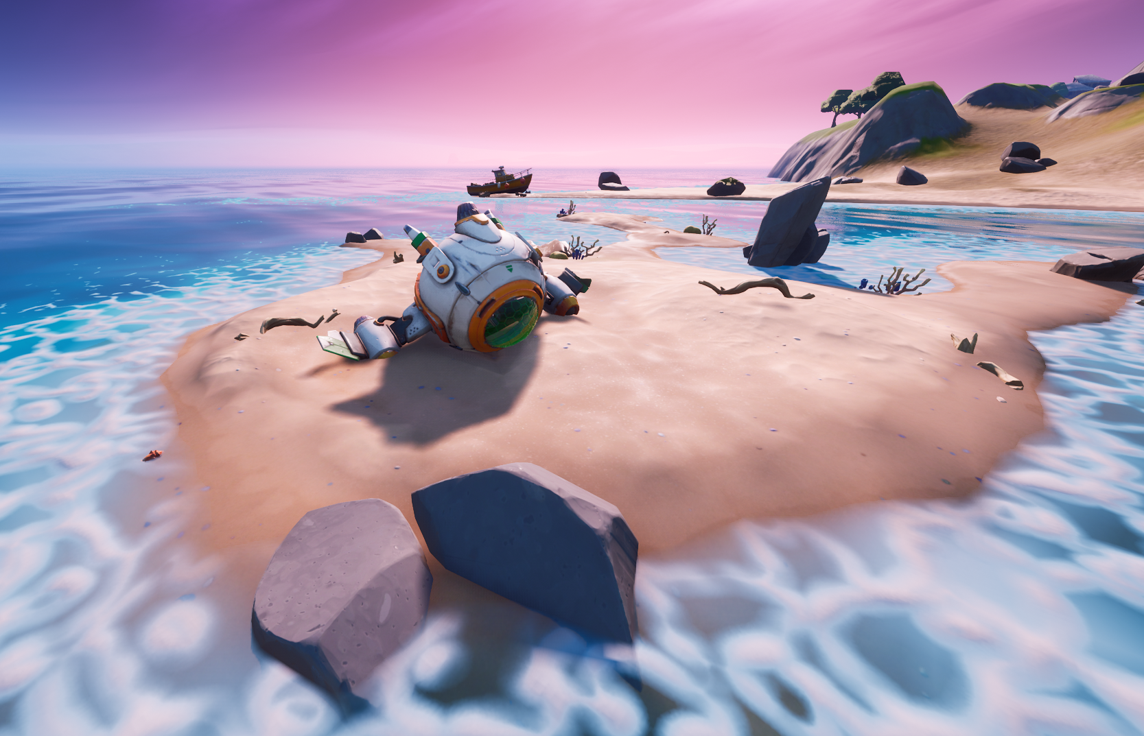 Fortnite island with space ship