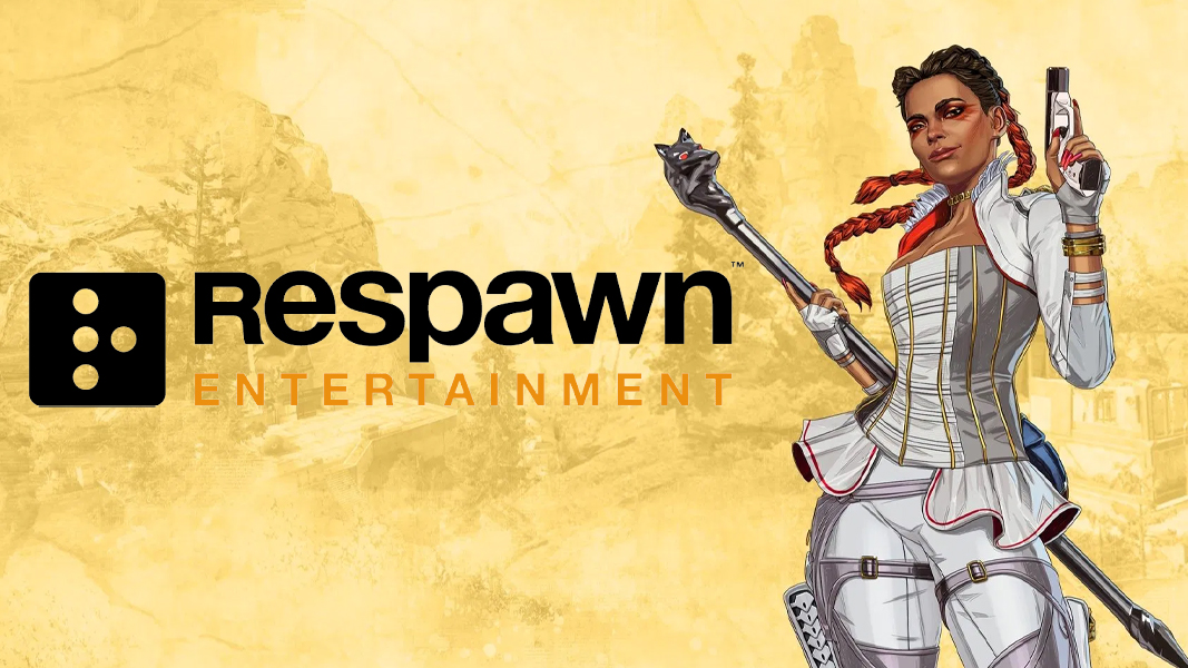 Loba from Apex Legends next to Respawn logo