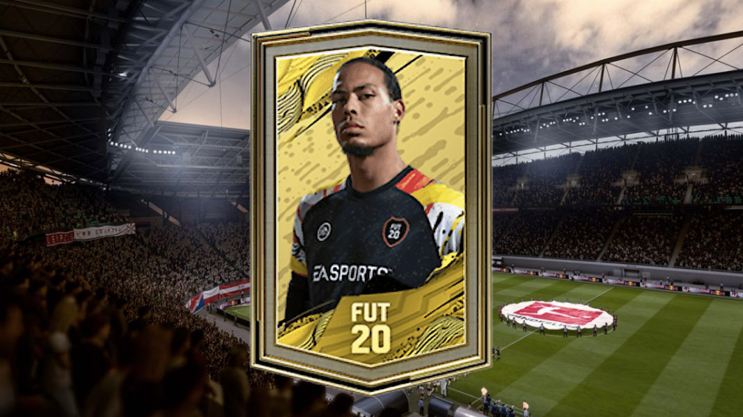 FIFA 20 pack on a stadium backdrop
