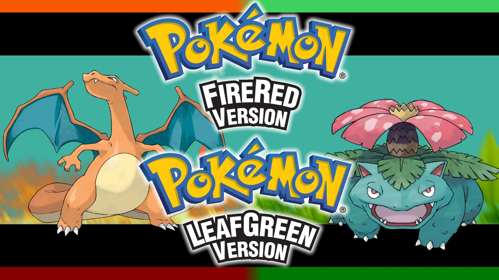 pokemon fire red leaf green promo art